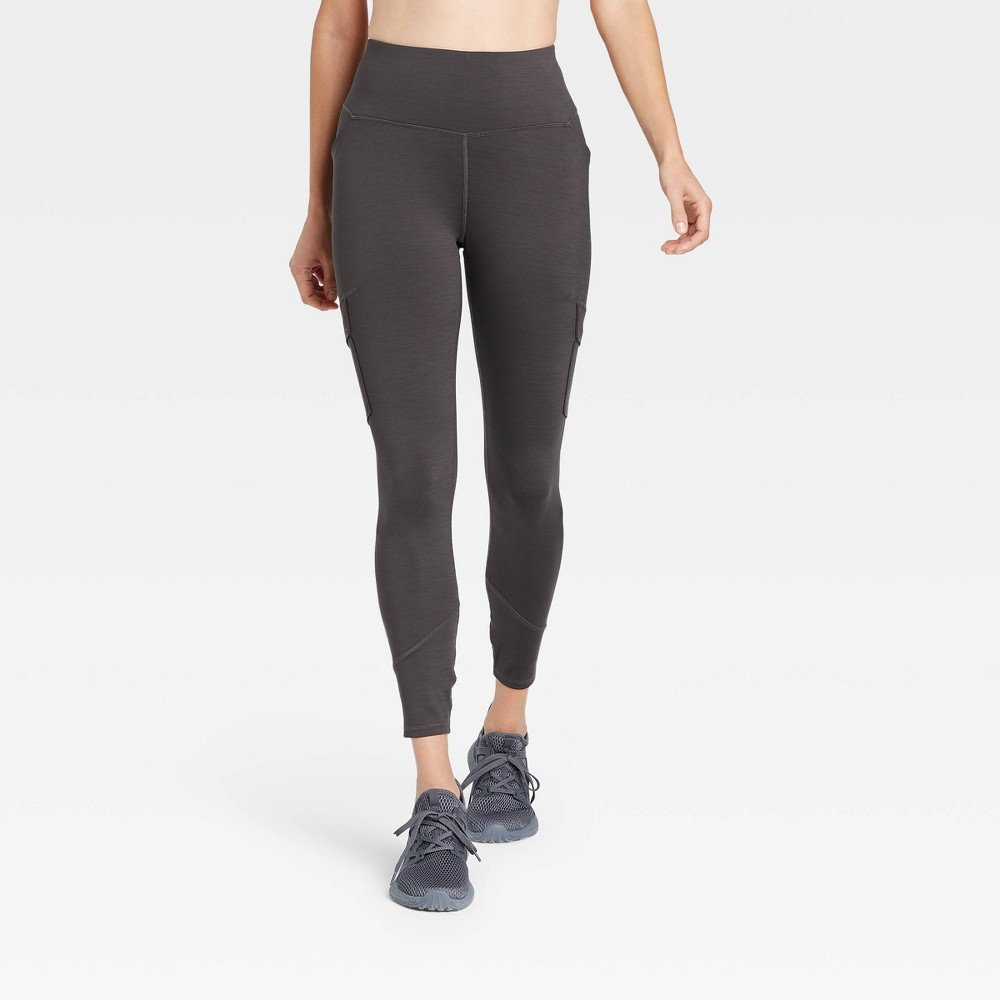Women 39 S High Waisted Cargo Leggings All In Motion 8482 Charcoal Gray S