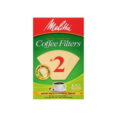 Melitta 100ct Coffee Filters - Natural Brown