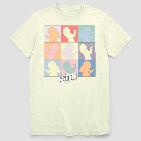 Men's FOX Seinfield Dancing Elaine Short Sleeve Graphic Crewneck T-Shirt - White - image 1 of 2
