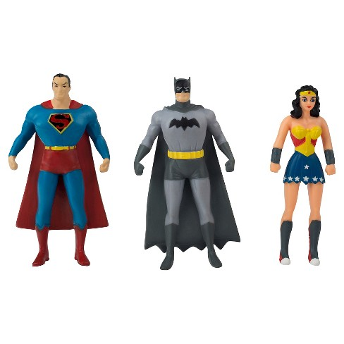 DC Comics Justice League Mini 3 Pack Bendable Figures - Superman, Batman, Wonder Woman - image 1 of 2