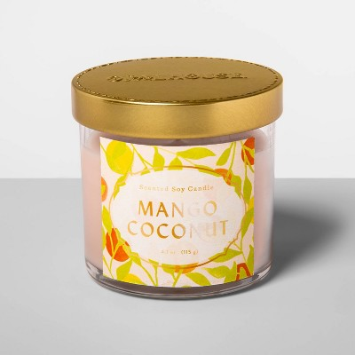 4.1oz Glass Jar Candle Mango Coconut - Opalhouse™