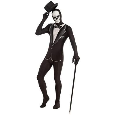 Forum Novelties Disappearing Man 2nd Skin Suit Skull Tuxedo  Adult Standard