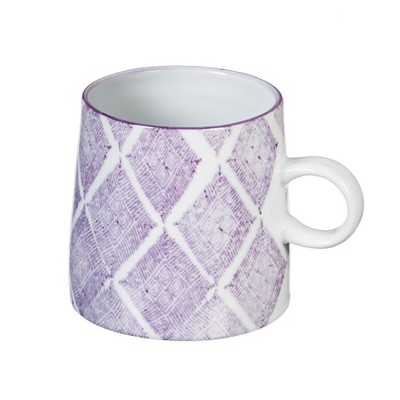 Cypress Home Ceramic Cup, 10 Oz, Purple Capri