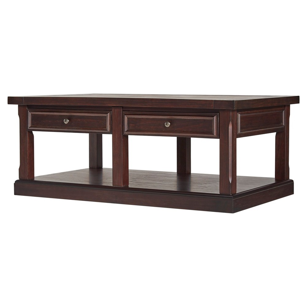Grafton Traditional Cocktail Table - Distressed Espresso - Inspire Q