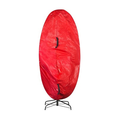 7.5' Premium Christmas Tree Cover Holiday Red XL Size - Elf Stor