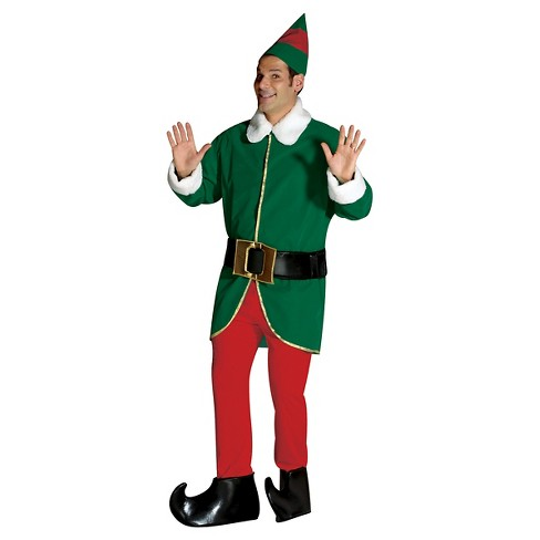 9fdb55e01c552 Adult Green And Red Elf Costume - Large XL   Target