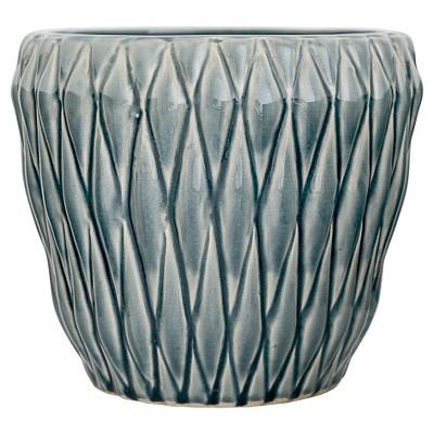 Ceramic Flower Pot - Blue (8 )- 3R Studios