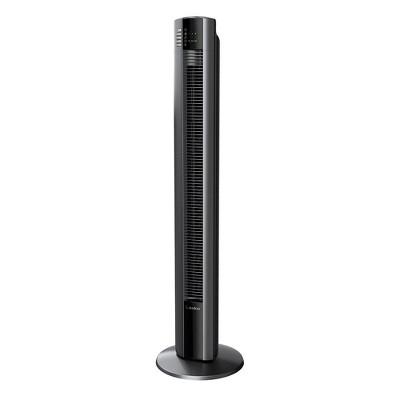 Lasko T48312 48 Inch Slim Home Office Quiet 3 Speed Oscillating Tower Fan w/ Nighttime Setting, Remote Control, 7 Hour Timer, & Auto Shut Off, Black