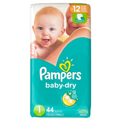 Pampers Baby Dry Diapers Jumbo Pack - Size 1 (44 ct)