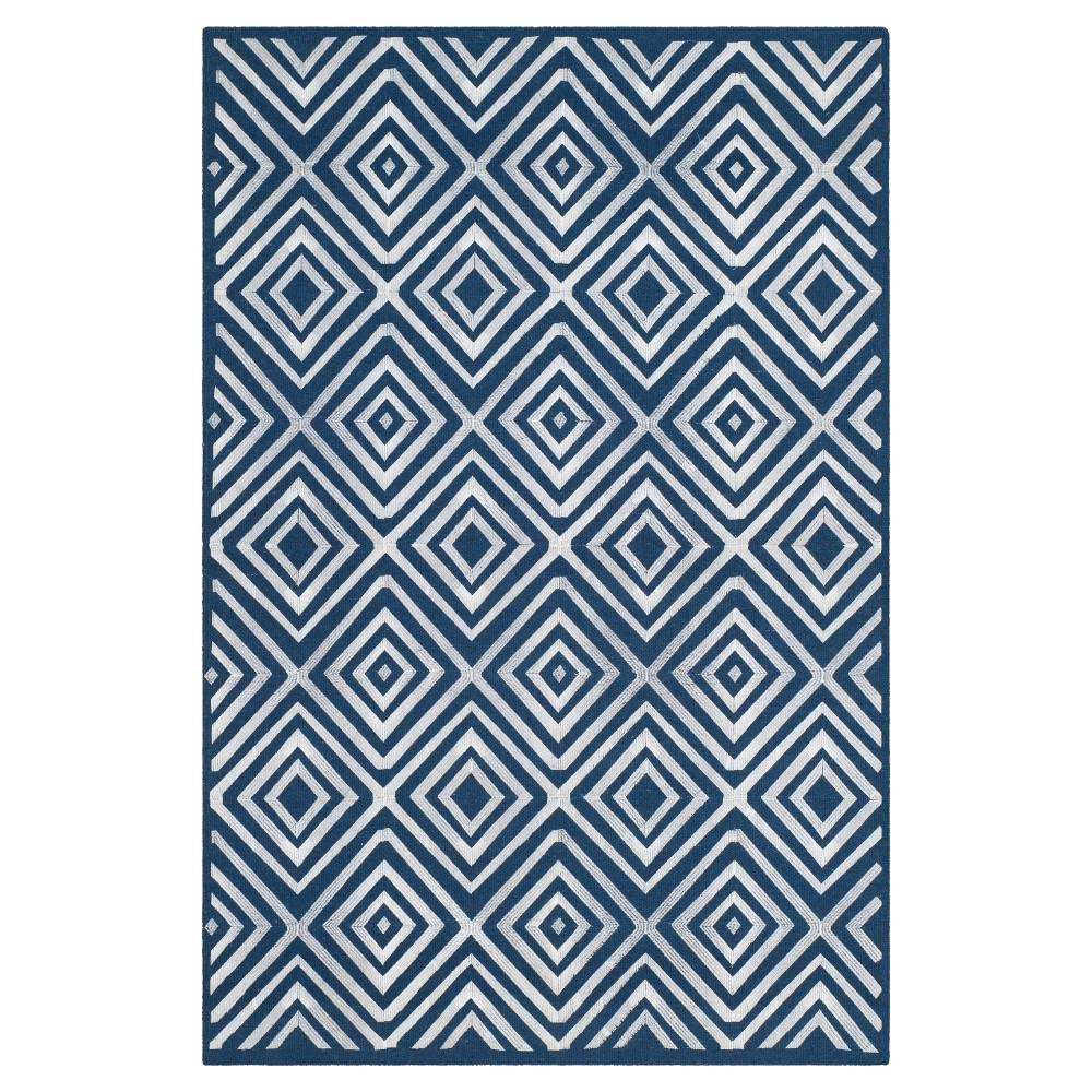 Kilim Rug - Navy (Blue) - (4'x6') - Safavieh