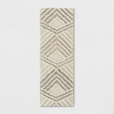 2'4 X7' Geometric Tufted Accent Rugs Light Off-White - Project 62™