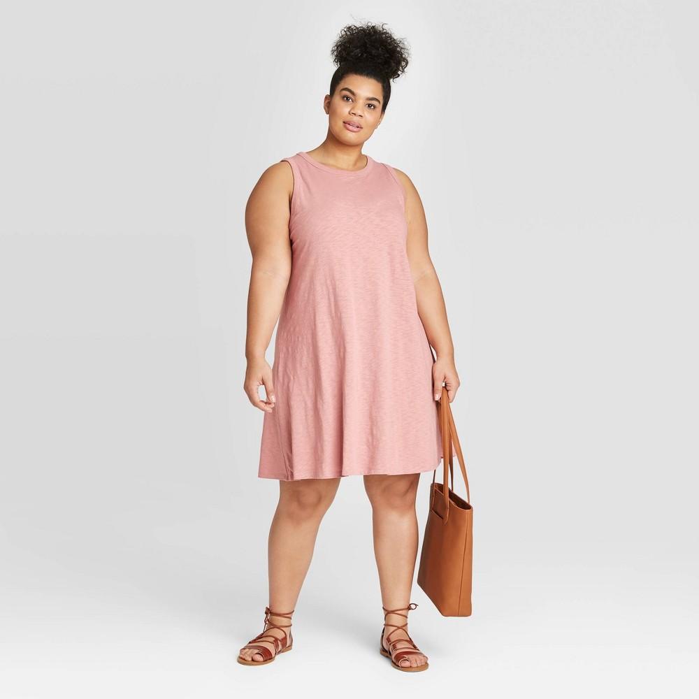 Women's Plus Size Tank Dress - Universal Thread Pink 2X was $15.0 now $10.0 (33.0% off)