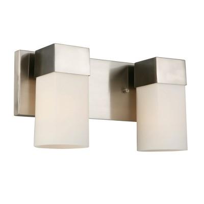 Ciara Springs 2 Vanity Light Silver/White - EGLO