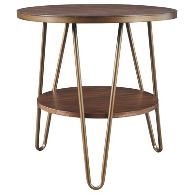 Lettori Round End Table Brown - Signature Design by Ashley