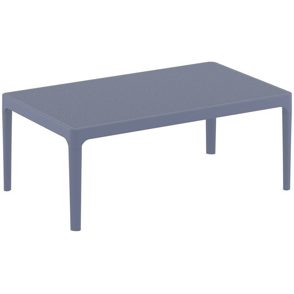 "Image of ""39"""" X 24"""" Sky Lounge Patio Side Table - Dark Gray - Resol"""