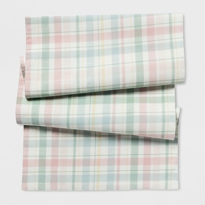 Genial Plaid Extended Size Table Runner   Threshold™