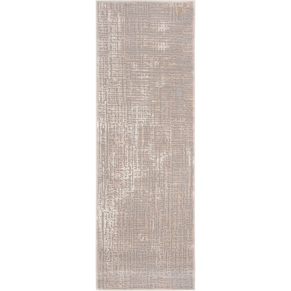2'7X8' Solid Loomed Accent Rug Ivory/Gray - Safavieh, White