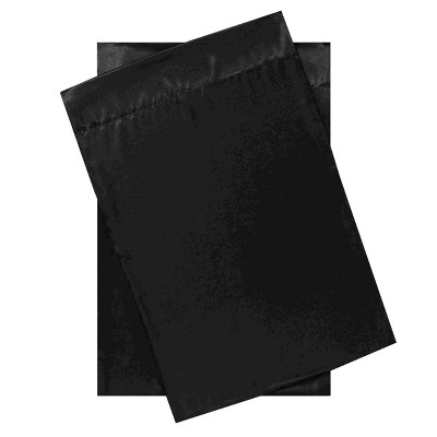 Standard Satin Solid Pillowcase Set Black - Betseyville
