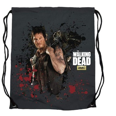 Crowded Coop, LLC The Walking Dead Daryl Dixon 17-Inch Drawstring Polyester Cinch Bag