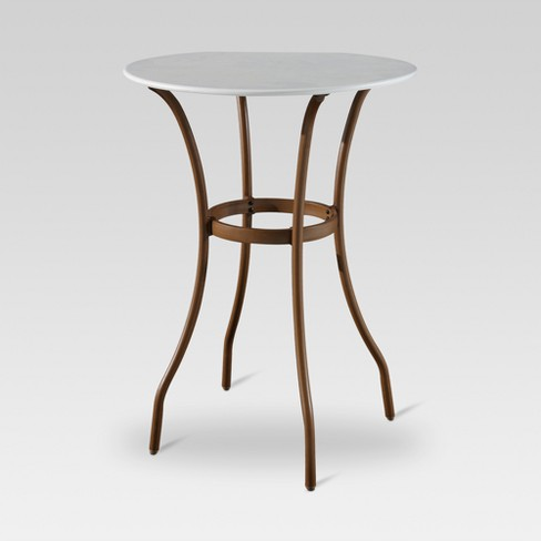 Outstanding French Caf Bar Height Patio Bistro Table Threshold Best Image Libraries Weasiibadanjobscom