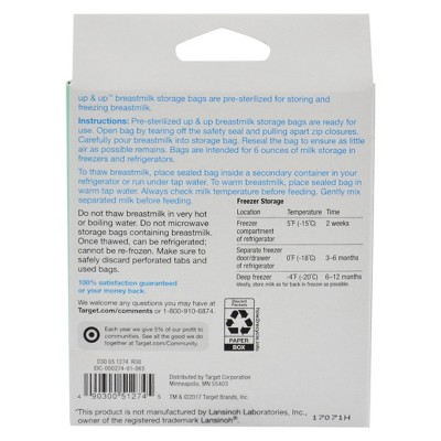 Milk Storage Bags - 50ct - Up&Up , White