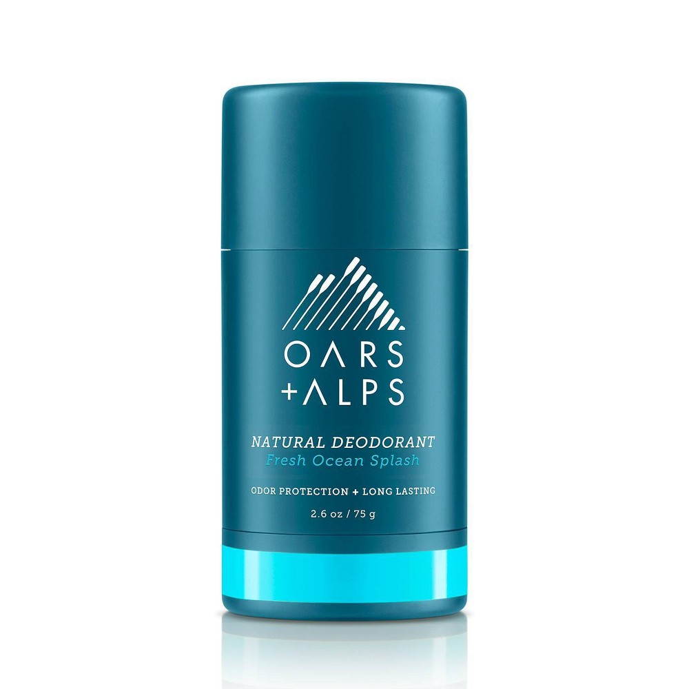 Image of Oars + Alps Men's Aluminum-Free Natural Deodorant - Fresh Ocean Splash - 2.6oz