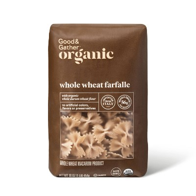 Organic Whole Wheat Farfalle - 16oz - Good & Gather™