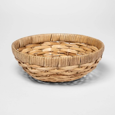Round Woven Wicker Serving Bowl Khaki - Threshold™
