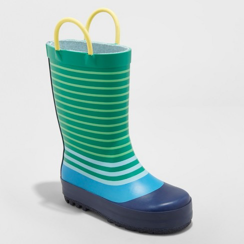 Toddler Boys' Luis Rain Boots - Cat & Jack™ Green - image 1 of 3