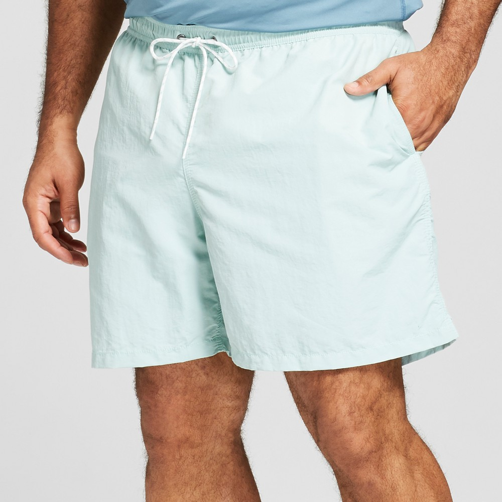 Men's Big & Tall 6 Elastic Waist Swim Trunk- Mint - Goodfellow & Co Pale Mint 4XB, Green