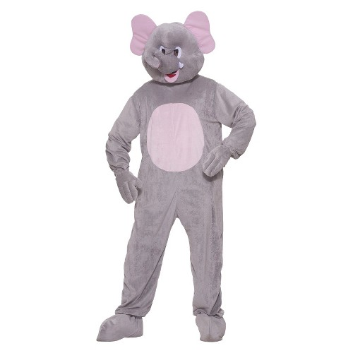Halloween Men's Plush Elephant Costume One Size