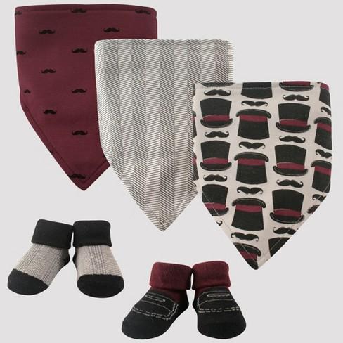 Hudson Baby Boys  5pc Bandana Bib And Socks Set dfa728343f7