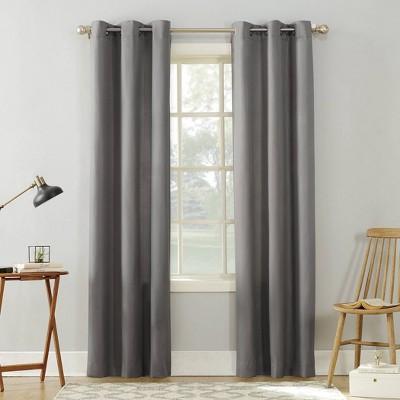 Sora Casual Textured Light Filtering Grommet Top Curtain Panel - No. 918