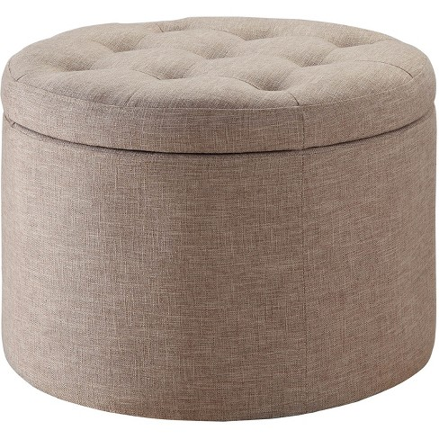 Designs4Comfort Round Shoe Ottoman - Convenience Concepts - image 1 of 5