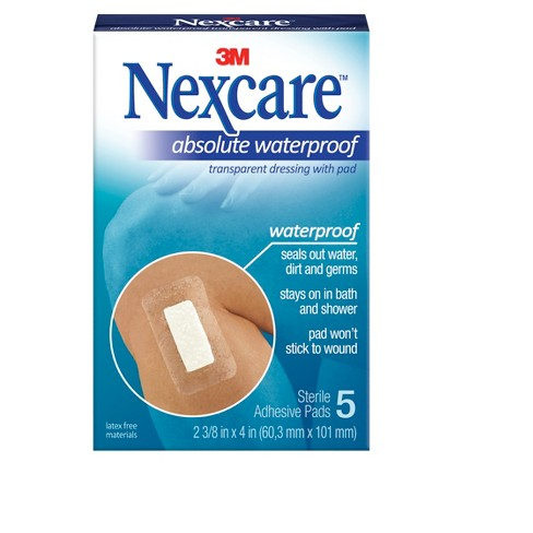 Nexcare Tegaderm Plus Pad Waterproof Transparent Dressing Adhesive 5 ct - image 1 of 1