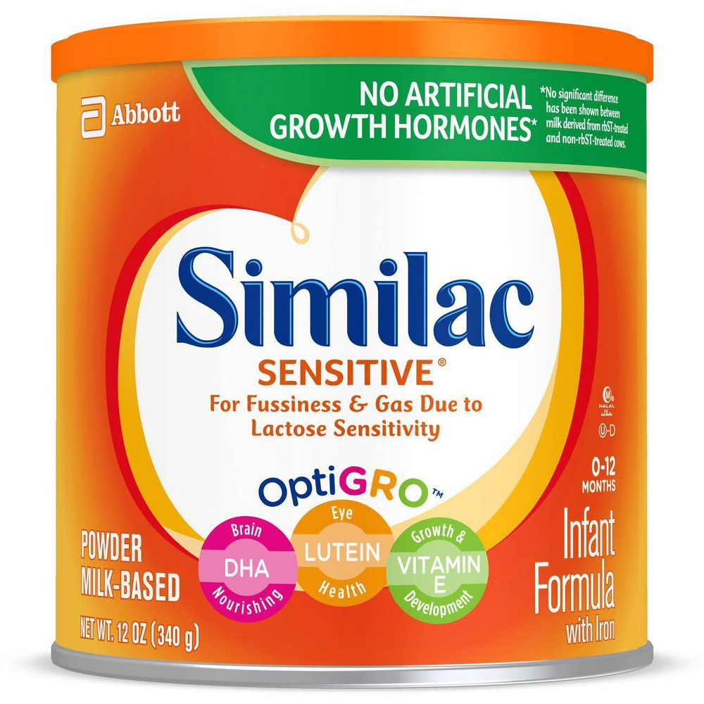 Similac Sensitive For Fussiness And Gas Infant Formula With Iron Powder 12 5oz