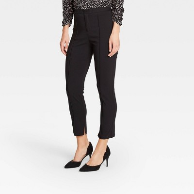 Women's Pintuck Skinny Ankle Pants - Who What Wear™ Black