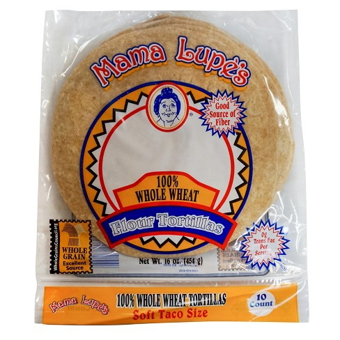 Mama Lupes Whole Wheat Flour Tortilla Soft Taco Sized - 10ct - image 1 of 1