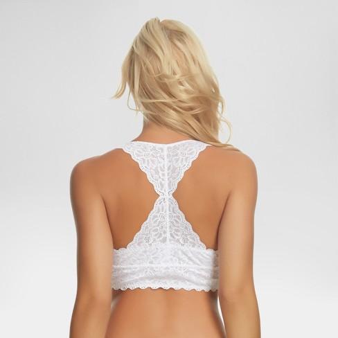 56c186c0d3 Jezebel® Women s Racerback Lace Bralette - White S   Target