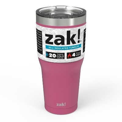 Zak! Designs 30oz Double Wall Stainless Steel Cascadia Tumbler - Rose