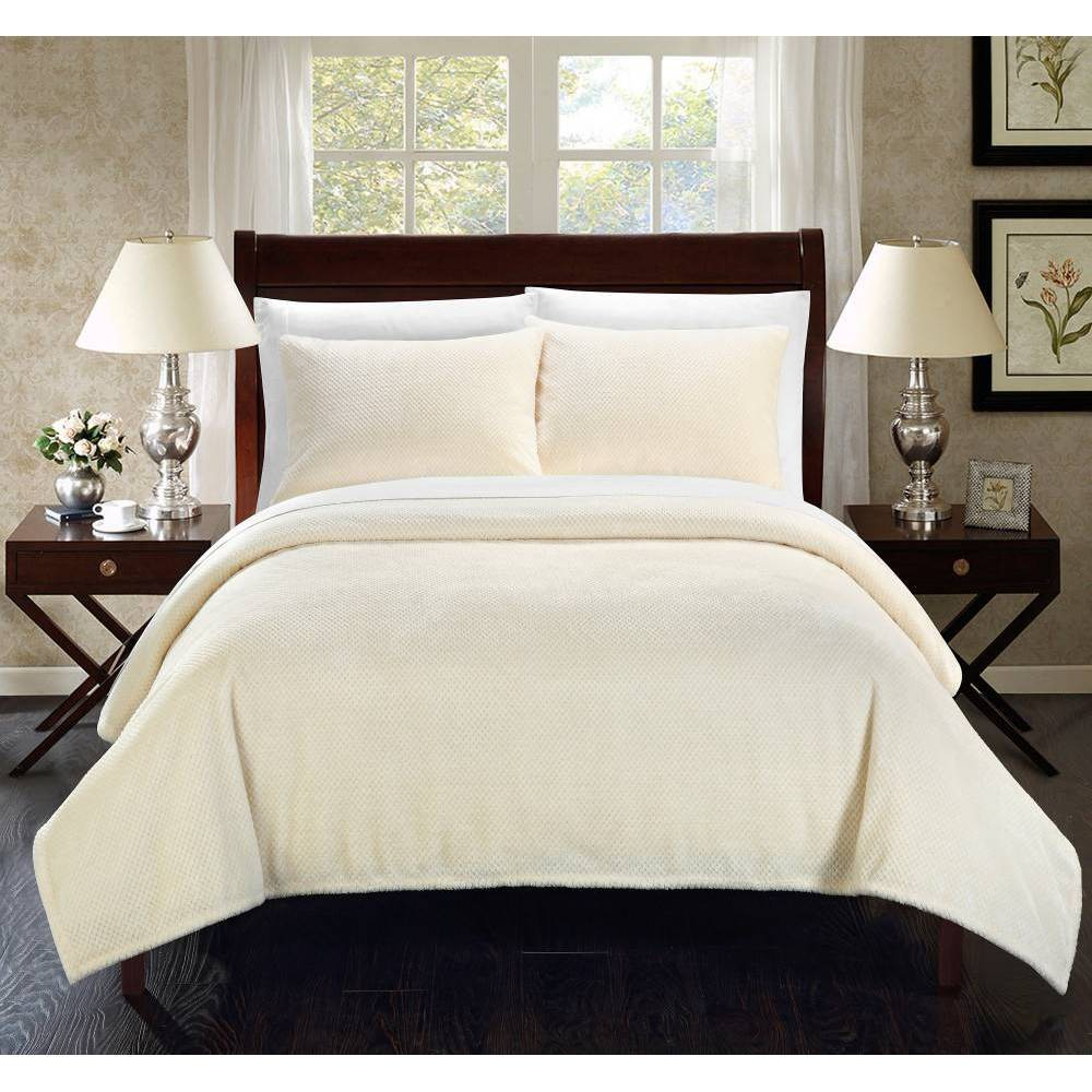 Image of 2pc Twin Marrakesh Blanket Set Beige - Chic Home Design