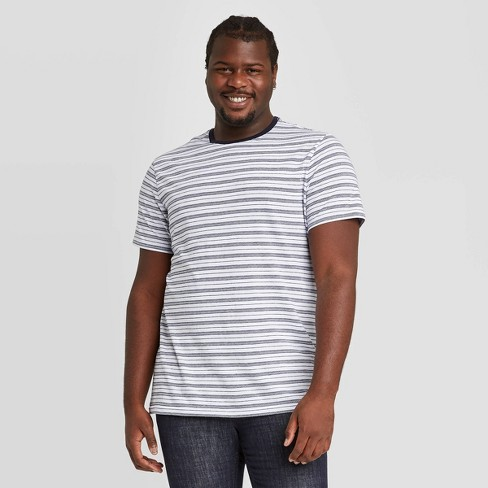 Men's Jacquard Big & Tall Athletic Fit Short Sleeve Novelty Crewneck T-Shirt - Goodfellow & Co™ - image 1 of 3