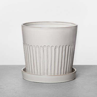 "7"" Ribbed Planter Small - Hearth & Hand™ with Magnolia"