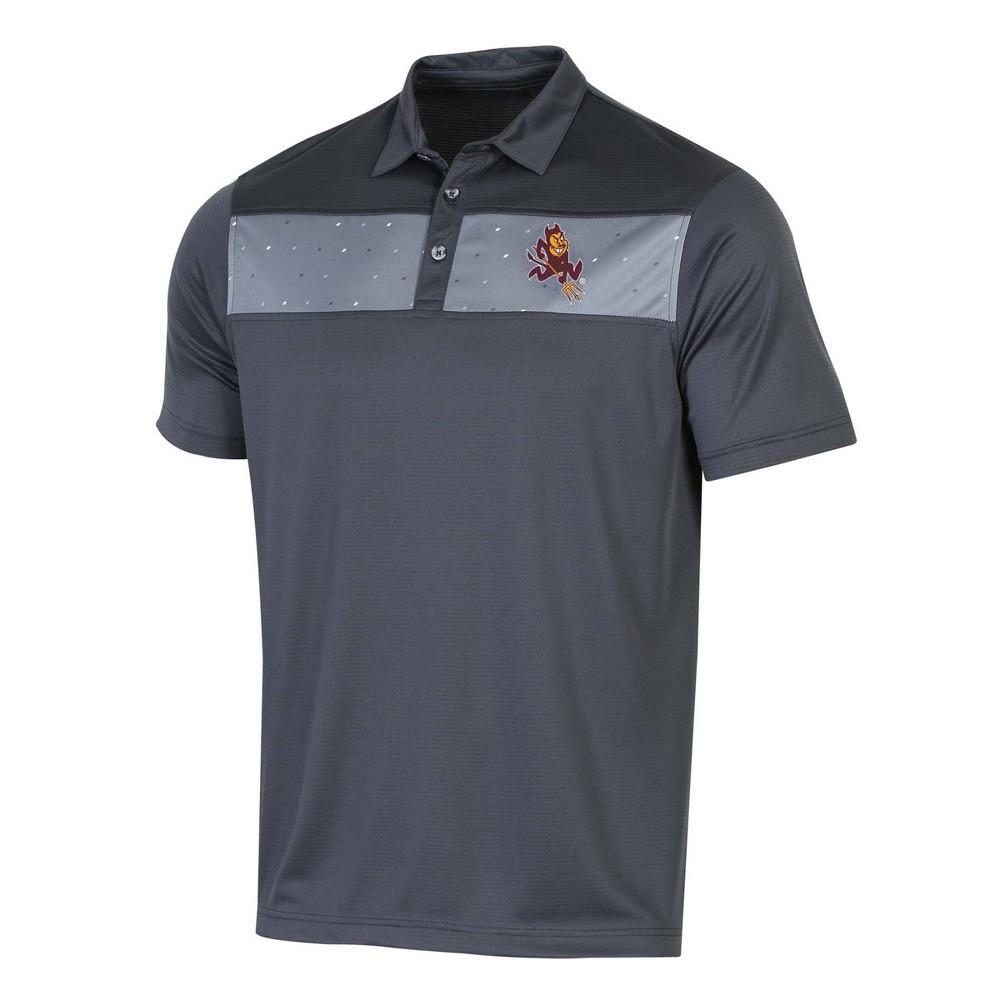 NCAA Men's Short Sleeve Polo Shirt Arizona State Sun Devils - S, Multicolored