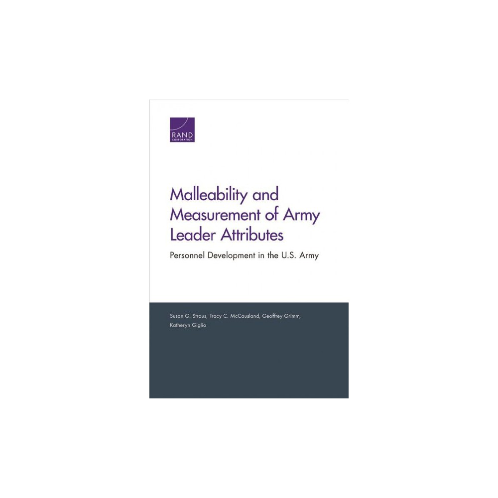 Malleability and Measurement of Army Leader Attributes : Personnel Development in the U.S. Army