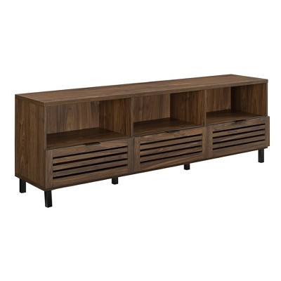 Charmant Jackson Slat Door Media Storage Console TV Stand Entertainment Center    Saracina Home : Target