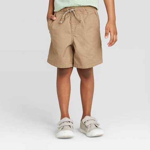 Toddler Boys' Pull-On Shorts - Cat & Jack™ Tan - image 1 of 3