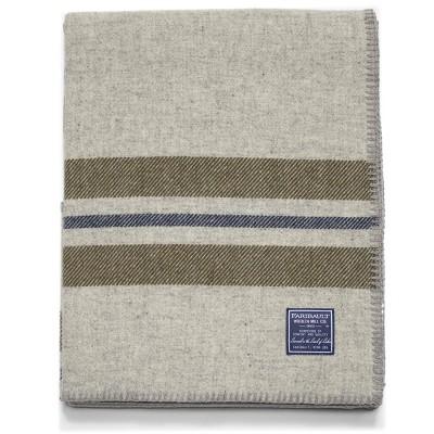 "50""x72"" Cabin Throw Blanket Olive - Faribault Woolen Mill"