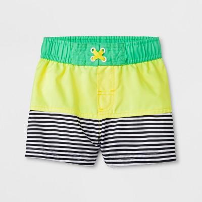 Baby Boys' Colorblock Swim Trunks - Cat & Jack™ Yellow 9M