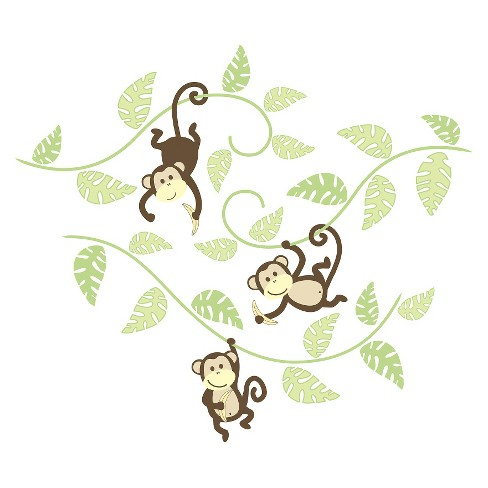 WallPops!® Monkeying Around Wall Art Kit - Neutrals - image 1 of 4